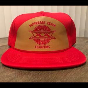 SUPREME Red Supreme Team Champions SnapBack